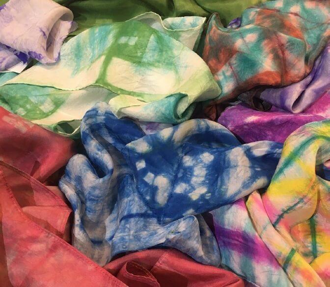 Inspire Me: Dip and Dye Silk Scarves