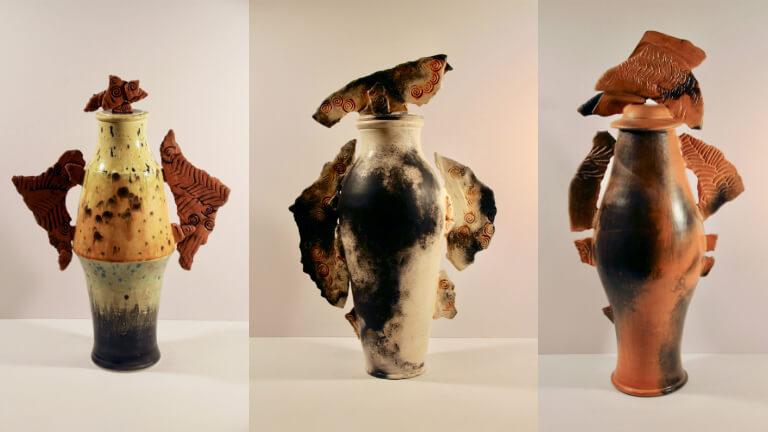 Segmented Sculptural Jar