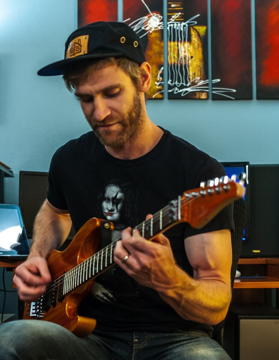Jon Gillin Playing Guitar