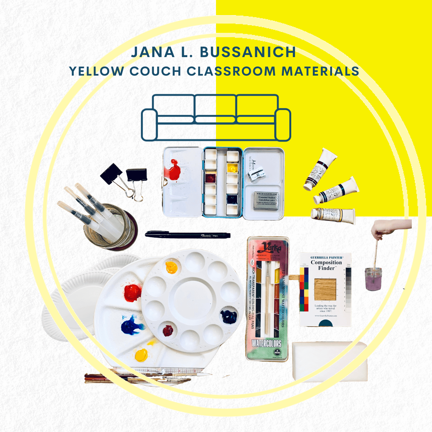 Materials Kit for All Watercolor Experiences by Jana